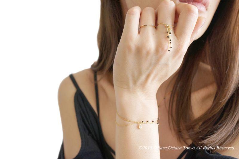 画像4: 【Monica】Dangle Swarovski Aadjustable Ring