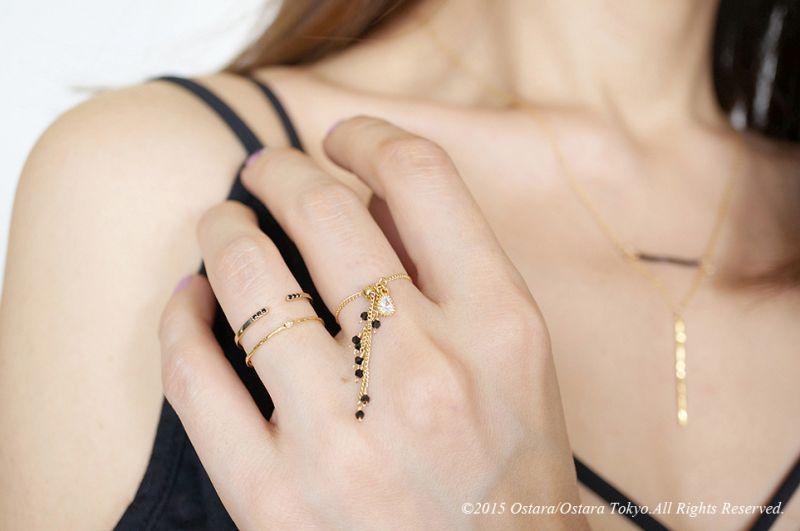 画像2: 【Monica】Dangle Swarovski Aadjustable Ring