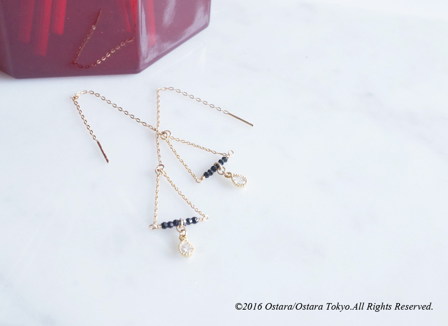 画像3: 【Monica】14KGF,Ear Thread Earrings,Dangle Triangle