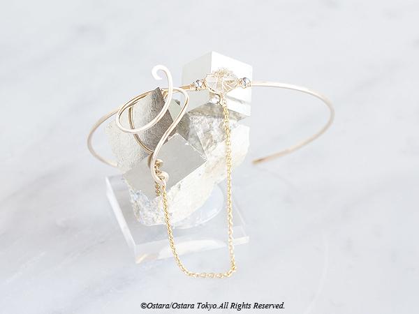 画像1: 【Custom Order】14KGF Ring Bangle,Gemstone Green Amethyst