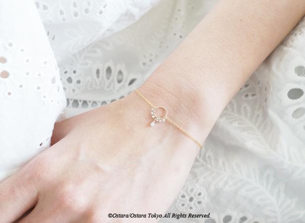 画像2: 【14KGF】Raw Diamond Bracelet/Anklet