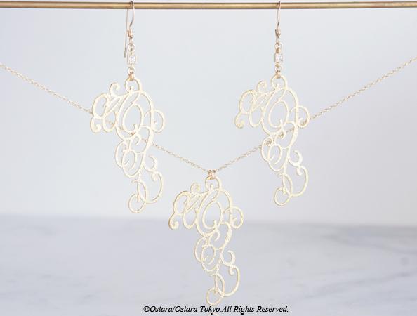 画像3: 【14KGF】Earrings,Matt Gold Elegant Filigree