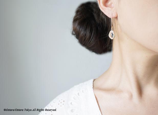 画像4: 【14KGF】Leaf Hook Earrings,,Glossy Color Glass
