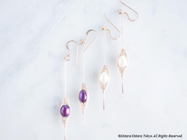 """画像3: 【Tsubomi】14KGF Earrings-B-""""Purple Pearl"""""""