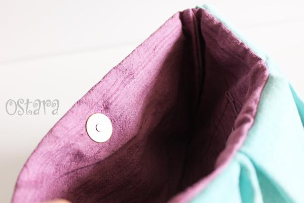 画像4: Leather Ruffle Clutch bag(S-size) in Jade by Vicki From Europe